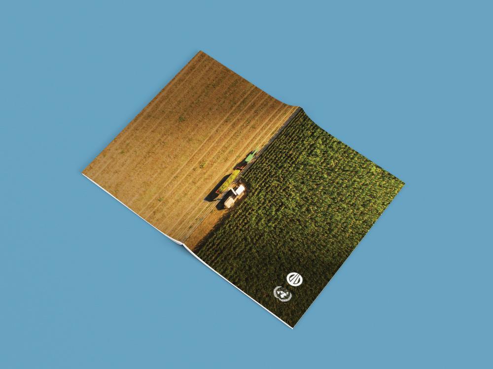 Начав с первой страницы, полного сочного поля, читатель, к концу отчета узнает все, чем занималась компании на протяжении года. Тонну за тонной, страницу за страницей соберет свой урожай. В конце ему откроется чистое, убранное поле.