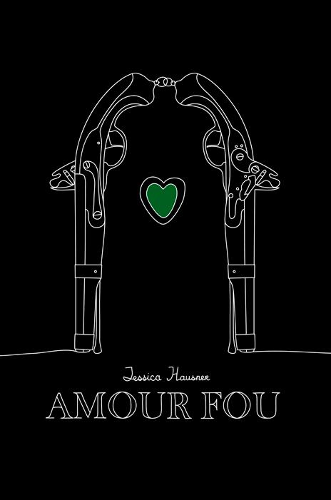 Плакат сочетает в себе множество образов: целующаяся пара, надгробие, пистоли... и два любящих сердца.