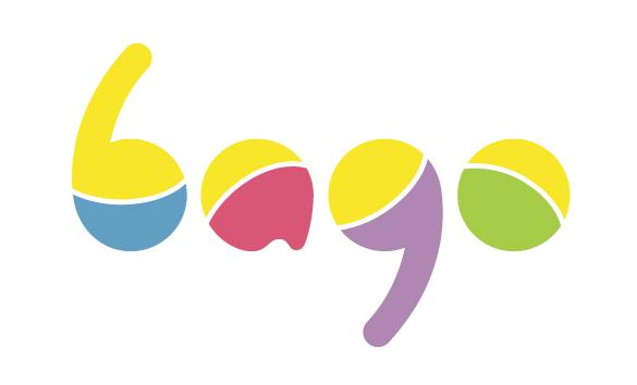 Яркий и немного наивный логотип основан на форме детских погремушек.