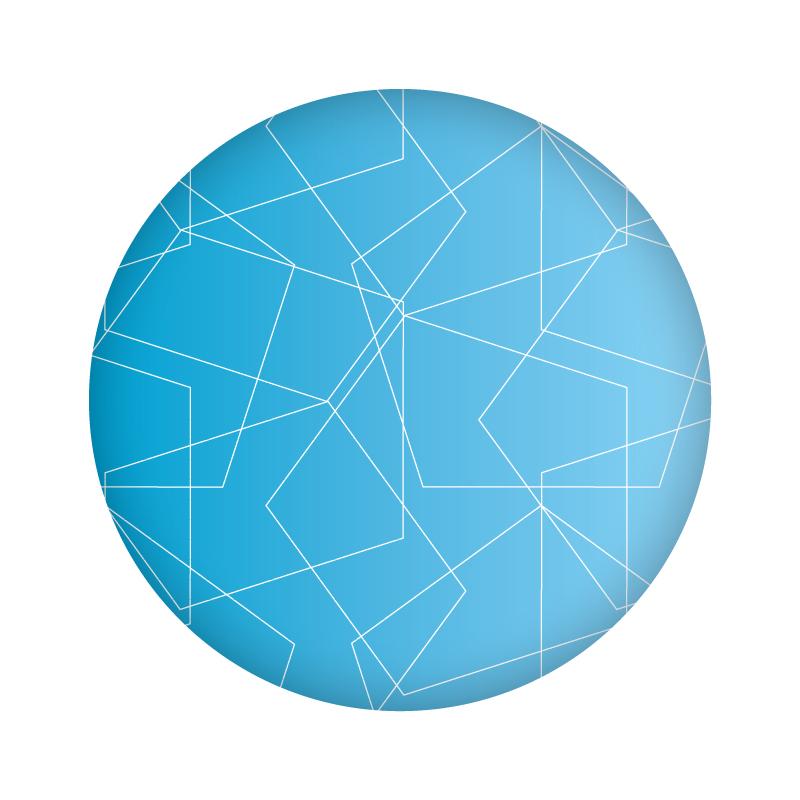 Мы создали технологичный патерн на основе формы фирменного знака компании - пятиугольника.