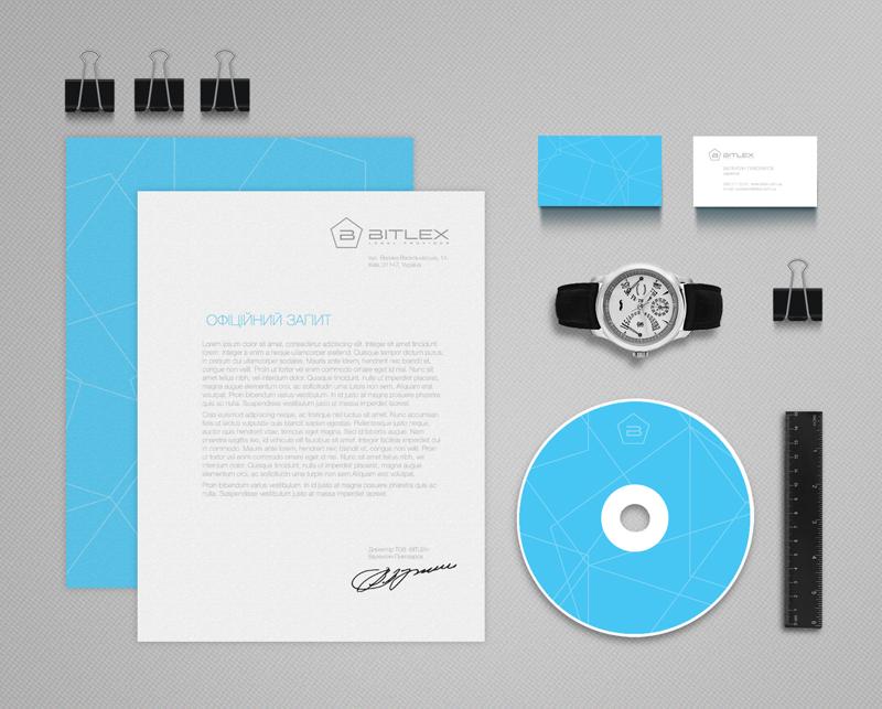 Фирменные элементы будут красиво выделяться на рабочих столах партнерских компаний благородным синим цветом и уникальным фирменным узором.