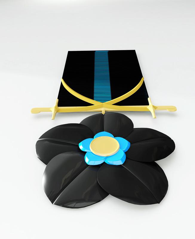 Медаль изготавливается из вороненной стали, золота и синей эмали.