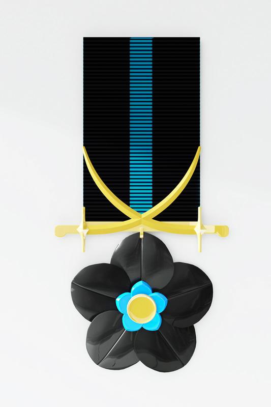 """Основой медали послужил цветок """"незабудка"""", укрывающий поля, леса, равнины, места побед и поражений Украины в разные времена."""