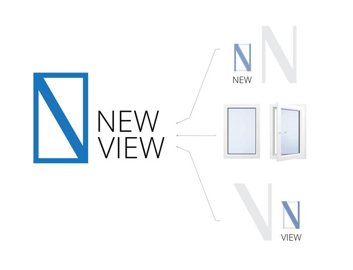 Форма логотипа основана на первых буквах названия. В целом логотип имеет достаточно нейтральный вид, но в тоже время есть сходство с общепринятой формой окна.