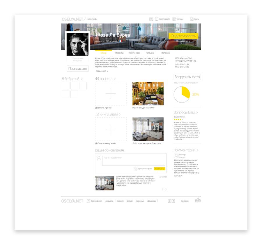 Пользователь может зарегистрироваться как профи и выкладывать свои работы и продавать их, общаться с другими пользователями, получать оценку своего творчества от коллег.