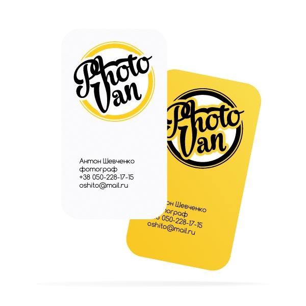 У студії також розробили візитні картки для фотографів.