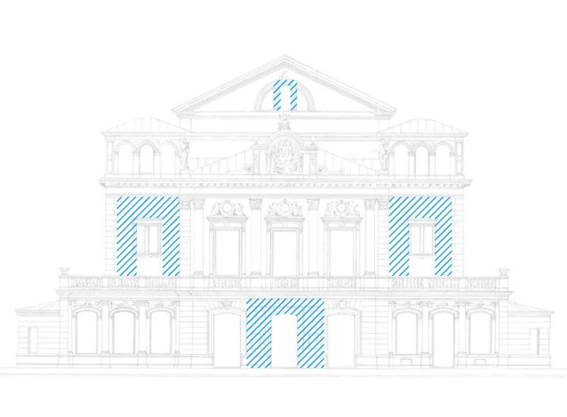 Фирменный знак присутствует почти в любом архитектурном строении, независимо от того, работало ли бюро над этим проектом.