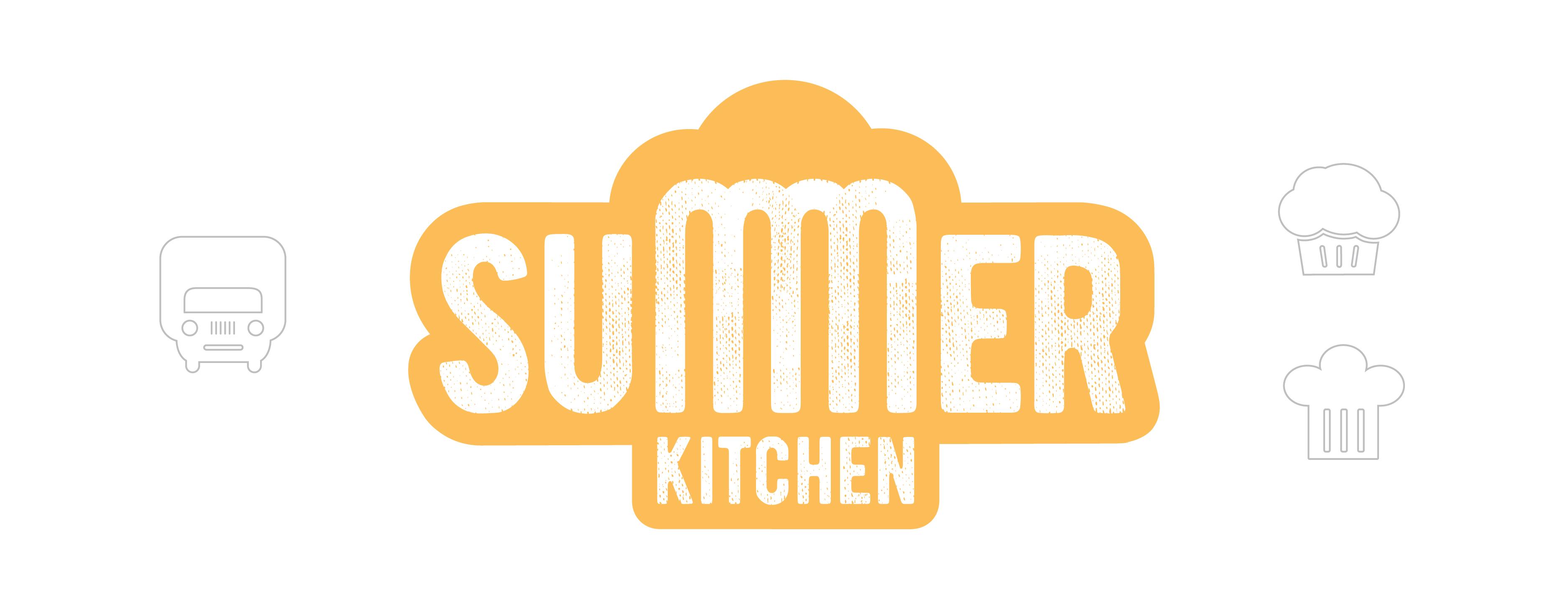 Логотип сочетает в себе радиаторную решетку и фары старенького грузовичка, маффин, шапку повара.