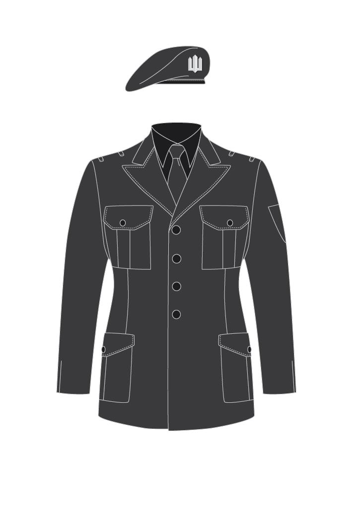 Все военнослужащие ССО будут носить исключительно береты. Для нового вида вооруженных сил в группе придумали отличительный цвет мундира и петличной арматуры.