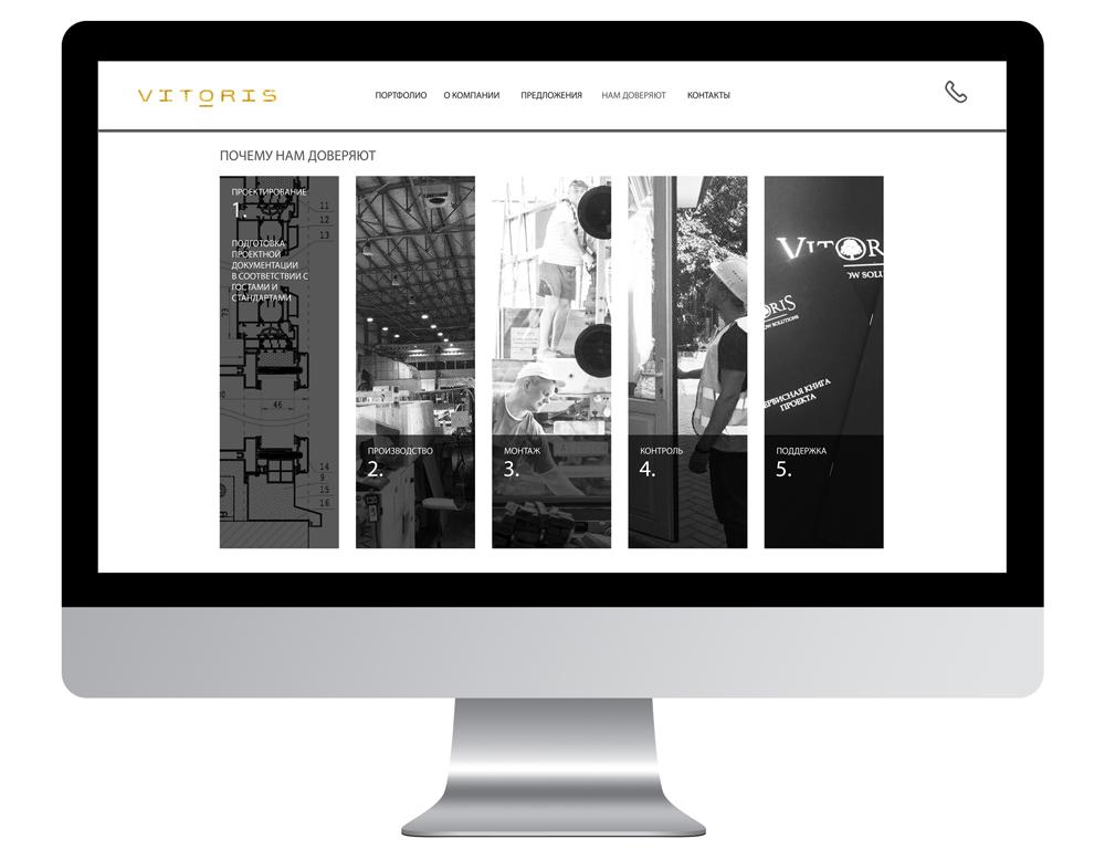 Сайт побудований за принципом адаптивності та вражає користувача на будь-якому пристрої